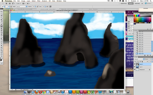 WIP- First Photoshop Painting by Butterflier00