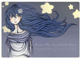 kiss the maiden's hair by uiano