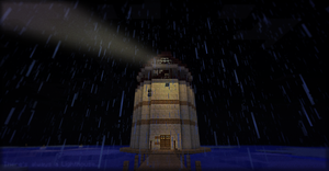 There's always a Lighthouse...in the Rain by Jailboticus