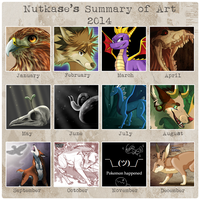 Summary of Art 2014 by The-Nutkase