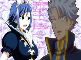 Juvia and Lyon Picture with poem by MrsLawnjiDRace