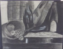 Charcoal Stilllife by AdeleEx