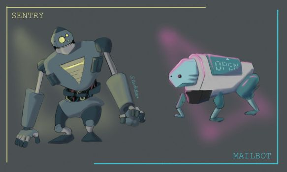 SVW: Sentry and Mailbot by kaithebox