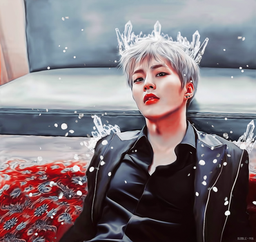 Xiumin / The Conqueror Of Frost by bubble-min