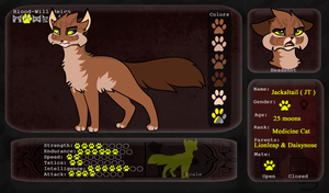 [ BWR - Jackaltail - ThunderClan Med ] by Joker-Darling