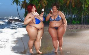 BBW_Beach and Ice Cream 2 by Rendermojo