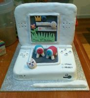Nintendo DS Lite cake by tanmei