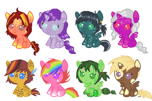 Draw/write-to-adopt Baby Ponies p.2 :CLOSED: by xRainbow-adoptsx