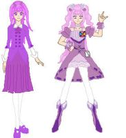 Fresh Precure OC - Cure Grape by Anime1423