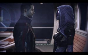 ME3 Normandy - Alan Shepard and Tali 2 by chicksaw2002