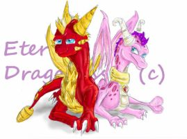 Flame and Ember by EternalDragoness