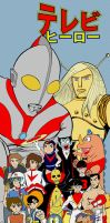 Japanese television heroes by wallyjunior