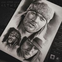W. Axl Rose drawing by Cleicha