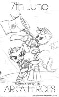 Arica Heroes (Sketch) by JcosNeverExisted