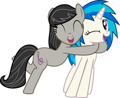 Commission - Octavia/Vinyl Hugs! by RainbowPlasma