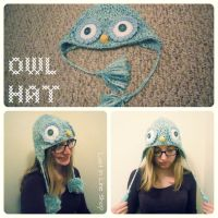 Blue Owl Hats by the-carolyn-michelle