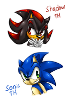 Shadow and Sonic by Eva-1999
