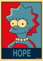 Lisa Simpson for president by Supereli