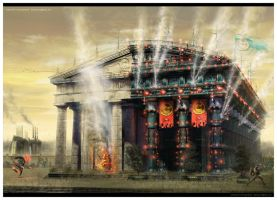 Arson of the great temple by Alexey-Starodumov