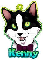 Kenny the Cat Badge by Crazdude