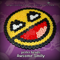 Awesome Smily Perler Beads by angelicetherreality