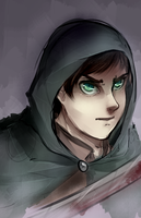 Eren doodle thing by Mittenn