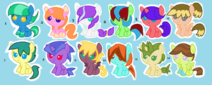 [Open] Foals Adopts by Sparkly-Adopts