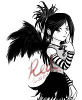 Gothic Angel by SkeletalWings