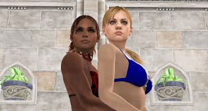 Jill and Sheva-POOL EMBRACE2 by blw7920