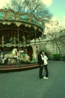 montmartre et son carrousel by Royalshake