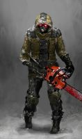 Chainsaw Necromorph Dead Space 3 by bulletreaper117