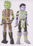 Oojoh and Gharn in Their mid Twenties by CrystalSabre
