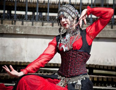 STOCK - Oriental Goth - Afghan Dance pose by Apsara-Stock