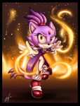 Blaze the Cat by GodzillaJAPAN