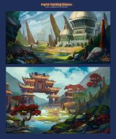More atmospheric sketches by lepyoshka