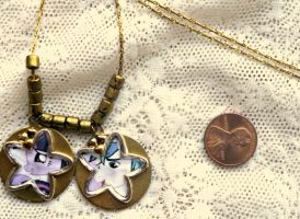 My Little Pony Twilight and Shining Armor Necklace by elllenjean