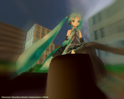 Miku City -wallpaper- MMD by marvyanaka