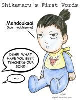 Shikamaru's First Words by HolliGenet