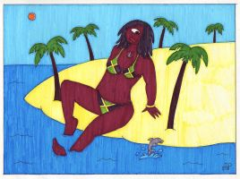 Jamaican Cyclops Girl by EmperorNortonII