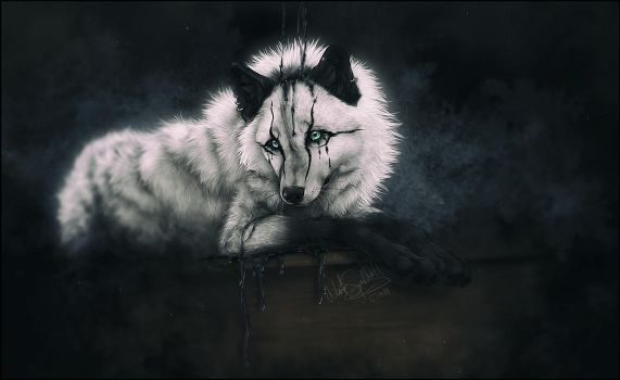 .: Black Tears :. by WhiteSpiritWolf