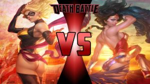 Carol Danvers vs Wonder Woman by Dynamo1212