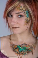 Steampunky mermaid face n bodypaint jewellery by Bodypaintingbycatdot
