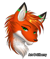 Comm: Headshot - Meadow by Silberry