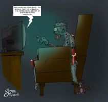 Zombie Vegging out to Emeril by Sean-Loco-ODonnell