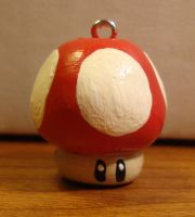 FOR SALE Super Mario Bros Mushroom Necklace Charm by KnickKnackNight