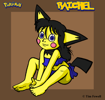 Raichel as a pichu by Timothius