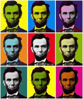 Abraham Lincoln POP ART by riikardo