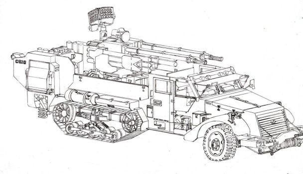 Halftruck on land cruiser troop carrier