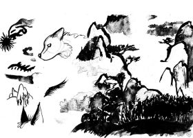 Chinese ink studies pt. 1 by Baramin-Fatalis