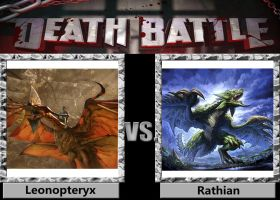 Death Battle - Leonopteryx VS Rathian by a1236gh